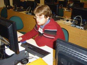 Charlie hard at work writing