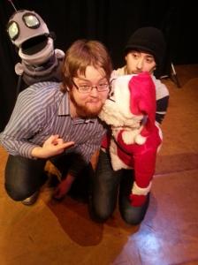 I saw Santa kissing Charlie-claus